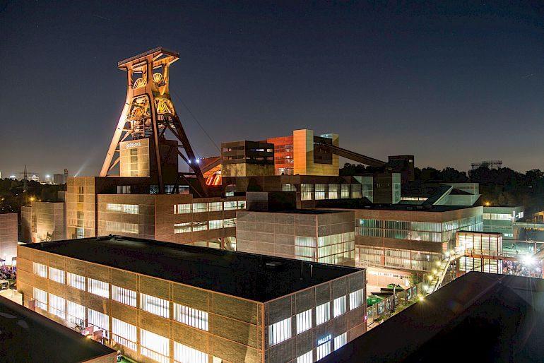 Zollverein Patrimonio culturale mondiale UNESCO durante la notte 2015 © Jochen Tack / Stiftung Zollverein