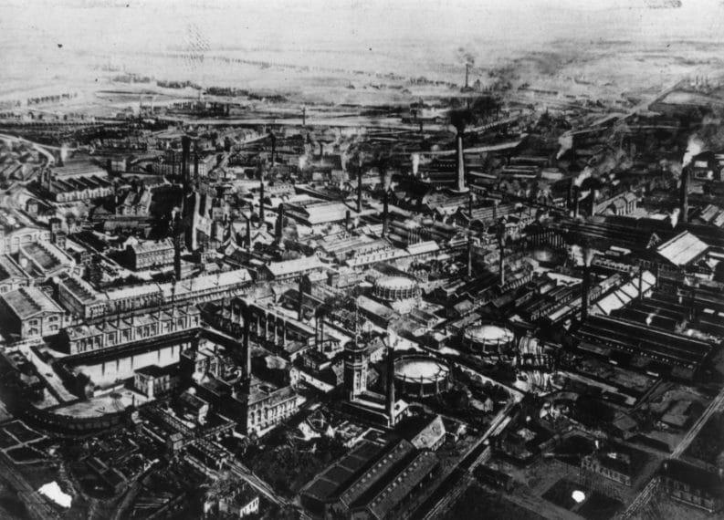 La fabbrica di armi Krupp ad Essen nel 1912