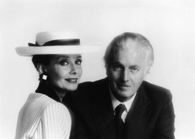 Givenchy con Audrey Hepburn nella metà degli anni '80