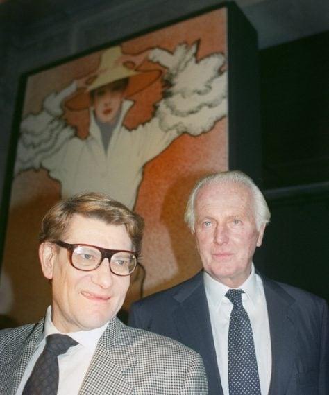 Con Yves Saint-Laurent nel 1991