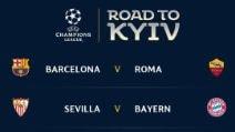 Champions, quarti: Barcellona e Real per Roma e Juventus