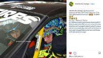 Valentino Rossi e Francesca Sofia Novello al Rally Drift Show
