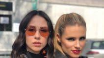 I look primaverili di Michelle Hunziker e Aurora Ramazzotti