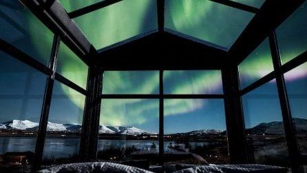 In un igloo di vetro per ammirare l'Aurora Boreale