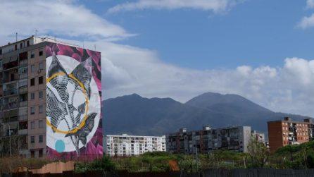 Ecco la settima opera nel Parco dei Murales a Napoli