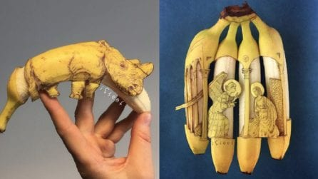 L'arte non si ferma alla tela: le pazzesche opere realizzate con le banane