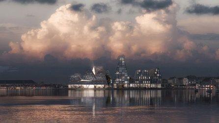 Il nuovo porto di Copenhagen progettato da Kengo Kuma