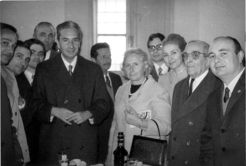 Una foto fatta in occasione delle nozze d'argento dello statista celebrate pochi anni prima del rapimento.