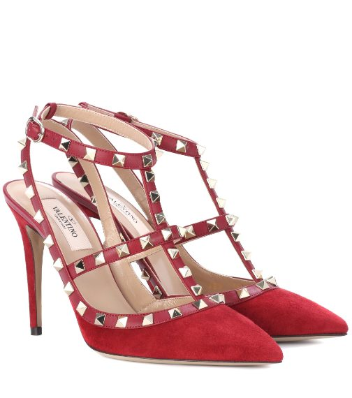 Rock stud in rosso 720 euro