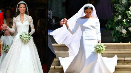 Kate Middleton e Meghan Markle: i look da sposa a confronto
