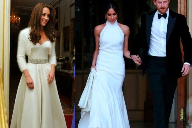 Il secondo abito da sposa di Kate era firmato ancora da Alexander McQueen, mentre Meghan ha puntato sull'eleganza di Stella McCartney