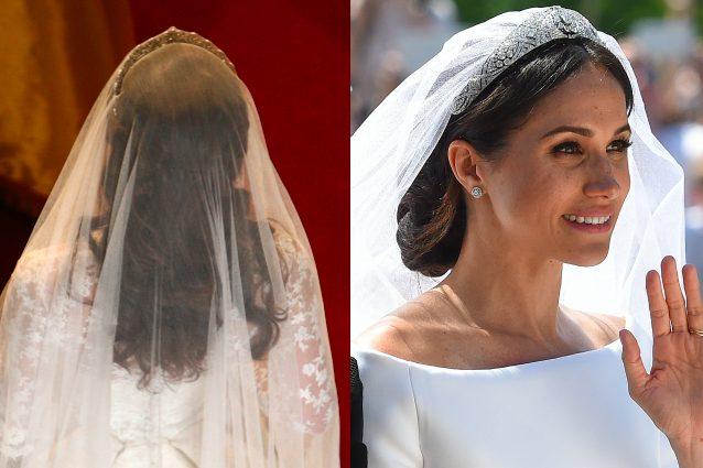 Kate ha tenuto i capelli sciolti, Meghan li ha legati in un'acconciatura raccolta