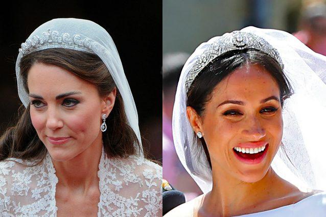 Entrambe le spose hanno optato per un beauty look dai colori naturali ma Kate ha esalato gli occhi con una linea di eye-liner più evidente