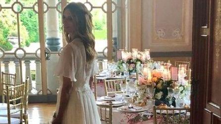 L'abito da sposa di Filippa Lagerback per il matrimonio con Daniele Bossari