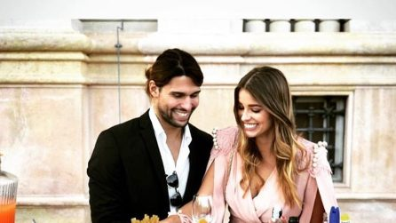 Luca Onestini e Ivana Mrazova alle nozze di Daniele Bossari e Filippa Lagerback
