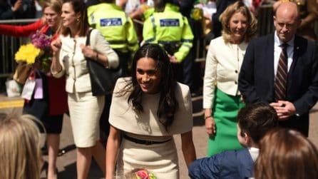Meghan Markle: il look per la prima apparizione pubblica con la regina