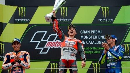 MotoGP, Lorenzo fa bis a Barcellona. Marquez e Rossi sul podio