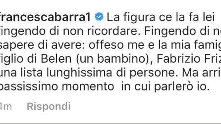 Scontro a distanza tra Selvaggia Lucarelli e Francesca Barra