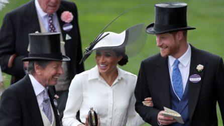 Meghan Markle in bianco e nero al suo primo Royal Ascot