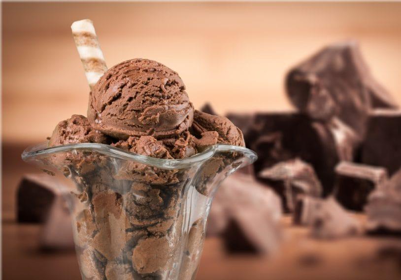 Gelato al cioccolato.