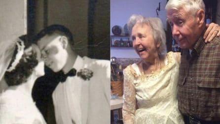 Dopo 63 anni, sua nonna indossa di nuovo lo stesso abito da sposa: la foto commuove tutti