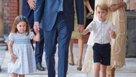 George e Charlotte adorabili al battesimo del principe Louis