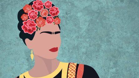 Ispirazioni messicane in casa con la carta da parati di Frida Kahlo