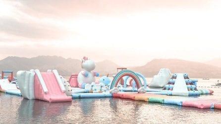 Benvenuti sull'isola unicorno, il più grande parco giochi galleggiante dell'Asia