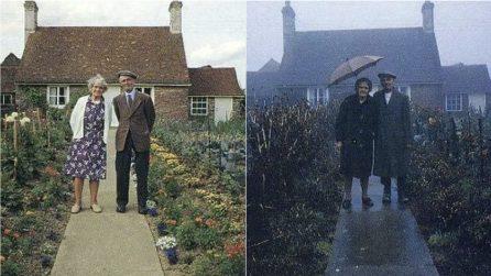 Ogni mese si mettono in posa nel loro giardino: l'ultima foto vi farà piangere