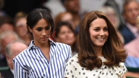 Meghan Markle e Kate Middleton a Wimbledon senza i mariti