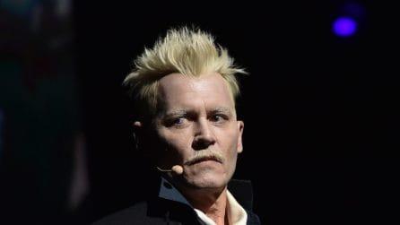 Johnny Depp irriconoscibile al Comic Con di San Diego 2018