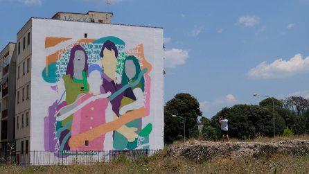 Il Parco dei Murales di Napoli est si arricchisce con Zeus40