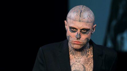 Zombie Boy: le foto in passerella e senza tatuaggi di Rick Genest