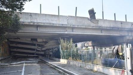 Esplosione a Bologna, le immagini dei danni all'autostrada