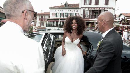Tina Kunakey: l'abito da sposa delle nozze con Vincent Cassel