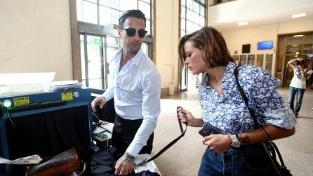 Fabrizio Corona con Silvia Provvedi in tribunale il 19 giugno 2018