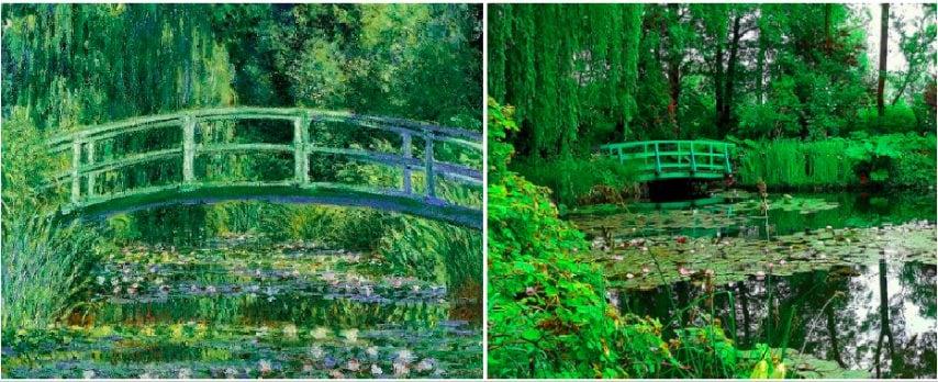 """L'impressionista ClaudeMonet sitrasferì in una casa a Giverny, un comune nel nord della Francia, nel 1883. È qui che l'artista impressionistacreò e coltivò il suo """"capolavoro più bello"""": ungiardino diispirazione giapponese. Caratterizzato da salici piangenti, fioriture tutto l'anno e un laghetto con fiori acquatici come fulcro, questo appezzamento di terra ben curato ha ispirato alcune delle serie più famose di Monet. Oggi il giardino è un'attrazione turistica"""