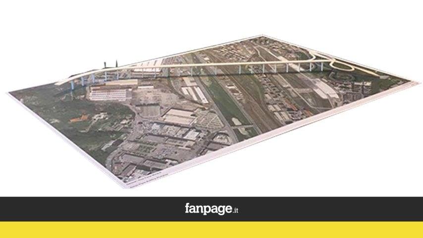 l plastico presentato da Renzo Piano al governatore Giovanni Toti nella sede della Regione Liguria