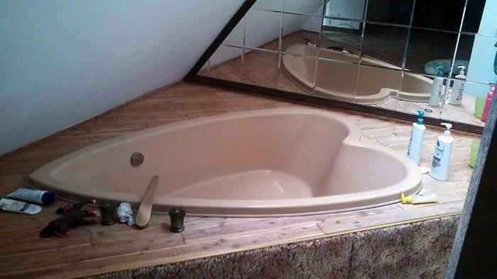 Trovare una vasca da bagno a forma di cuore