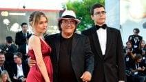 Al Bano a Venezia 2018 con i figli avuti da Loredana Lecciso, Albano jr. e Yasmine
