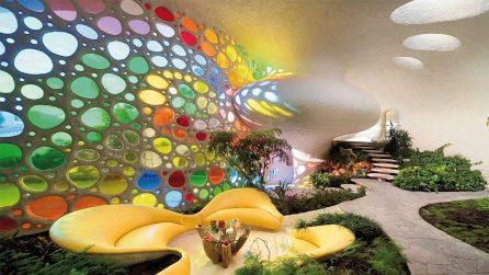 La casa organica che vive in armonia con la natura