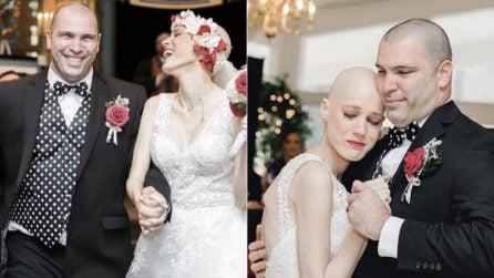 La fidanzata è malata terminale di cancro, lui le chiede di sposarlo: le emozioni del grande giorno