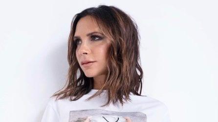 "Le t-shirt con l'immagine di Victoria Beckham ""imbustata"""