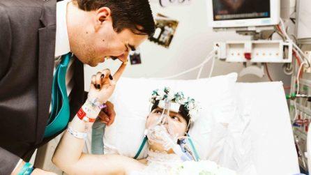 Malata terminale di cancro, 19enne ha un solo desiderio: il commovente matrimonio in ospedale