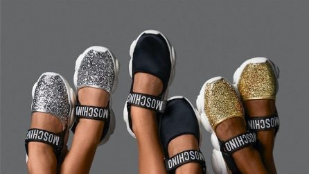 Teddy Shoes, le sneakers Moschino con la suola orsetto