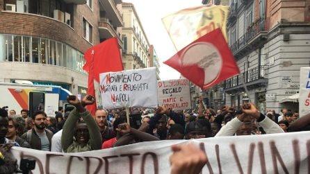 Salvini a Napoli, corteo di protesta in centro