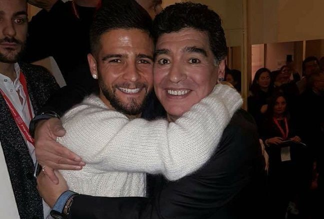 Image result for lorenzo insigne and maradona