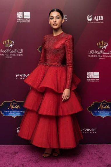 """L'attrice interpreta Jasmine nel nuovo film Disney """"Aladdin"""""""