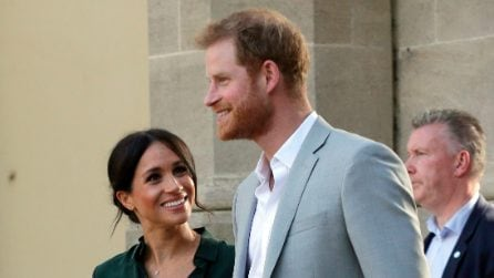 Meghan Markle in gonna di pelle all'evento ufficiale