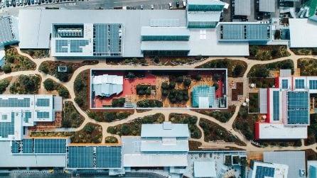 Le immagini del nuovo campus di Facebook di Frank Ghery